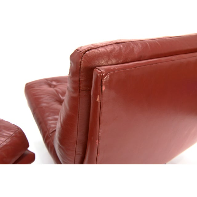 Founders Leather & Bronze Lounge Chairs - A Pair - Image 5 of 7