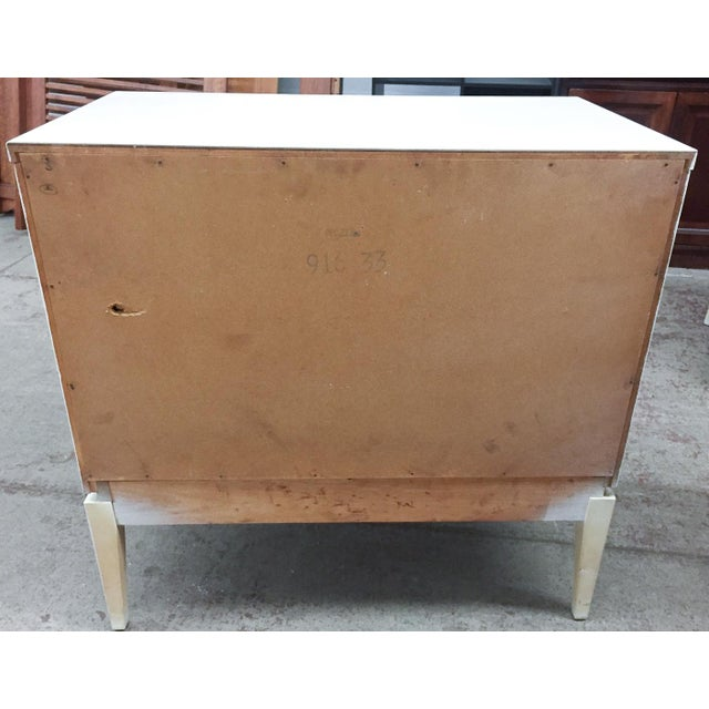 Image of Mid-Century Kroehler White Side Chest of Drawers