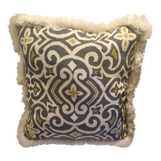 Vintage Cotton Pillow With Fringe
