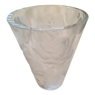 Lalique Ispahan Crystal Vase