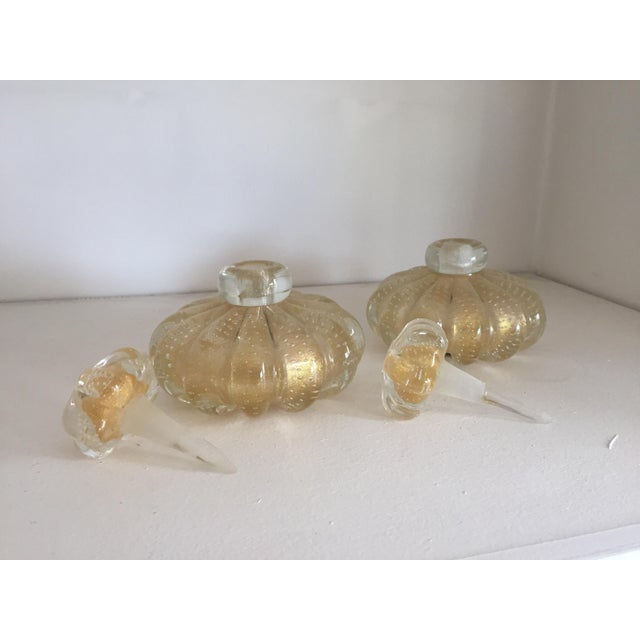 Image of Venetian Murano Glass Perfume Bottles - A Pair