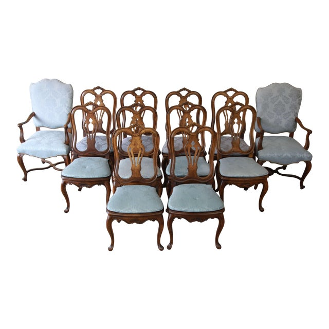 French Provincial Dining Chairs by Baker Furniture - Set of 12 - Image 1 of 11