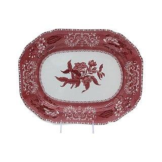 Spode Camilla Red & White Platter