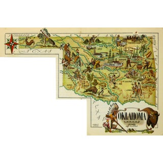 Vintage 1946 Oklahoma Pictorial Map