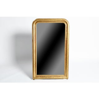 Gilded Pinewood Mirror with Original Glass