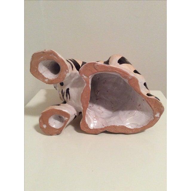 Vintage Italian Ceramic Tiger Cub Figurine - Image 6 of 7