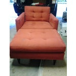 Image of Crate & Barrel Chair and Ottoman