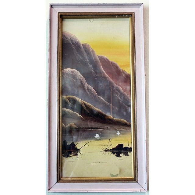 Asian Pastel Lake Scene - Image 2 of 4