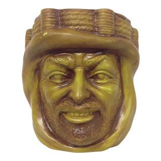 Mid-Century California Pottery Figural Head Vase