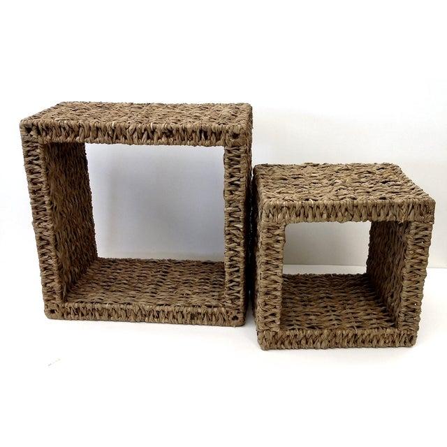 Sea Grass Shadow Box Shelves- A Pair - Image 3 of 5