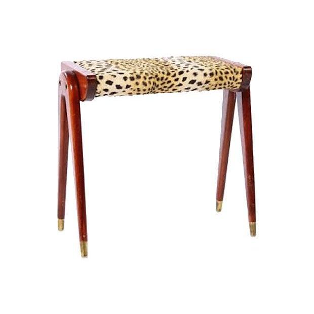 Mid Century Modern Parisi Style Faux Leopard Bench Chairish