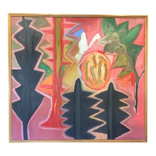 1987 Sheila Miles Abstract Expressionist Landscape Signed