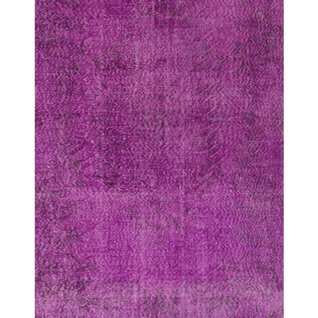 Turkish Vintage Over-Dyed Rug - 6′11″ × 10′4″ - Image 2 of 2