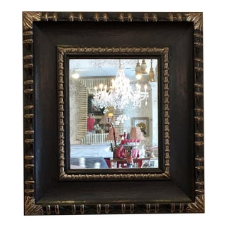 Carved Ebony & White Gold Designer Mirror by Gregorius Pineo