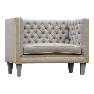 Newly Upholstered Tufted Cubed Loveseat