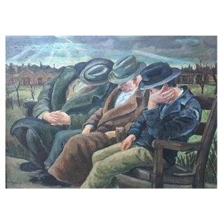 Carl Nyqvist's Three Men on a Bench