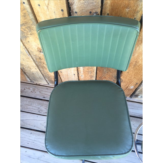 Mid-Century Bar Stools in Jade - A Pair - Image 10 of 11