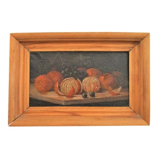 Antique Oil Painting of Fruit