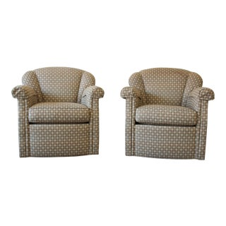 Stickley Swivel Lounge Chairs - A Pair