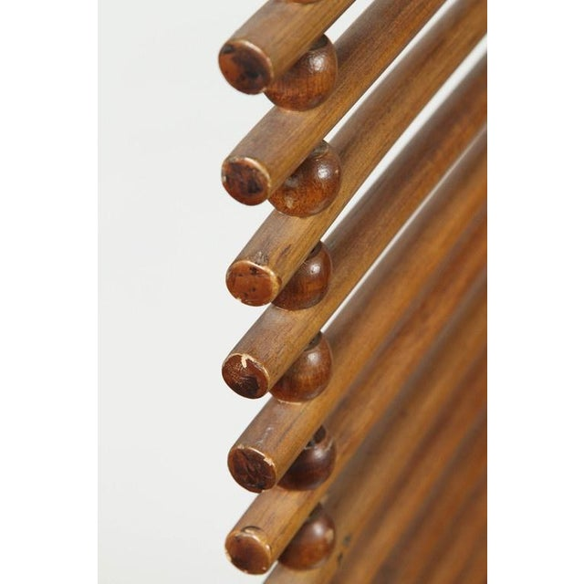 Image of Mid Century Wood Stick & Ball Screen