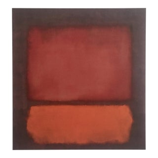 "Mark Rothko Abstract Expressionist Lithograph Print Poster ""Monochrome Brown"" 1962"