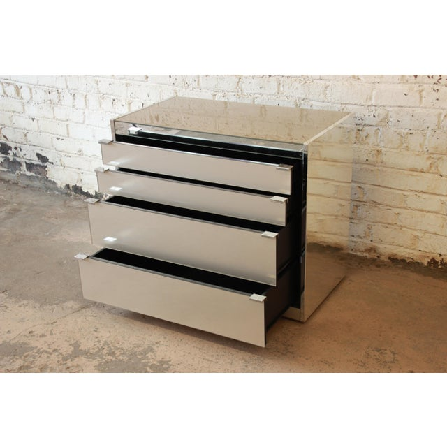 Guy Barker for Ello Mid-Century Mirrored Chest of Drawers - Image 6 of 9