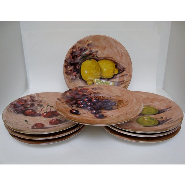 handmade italian dinner plates set of 8 chairish