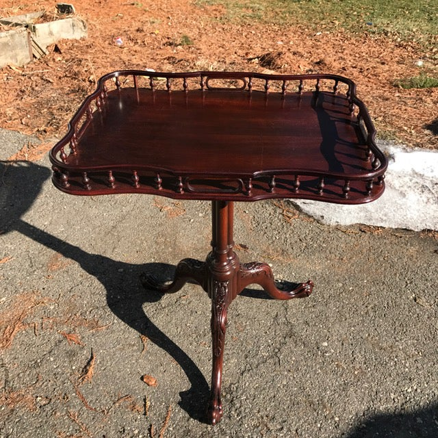 Image of Vintage English Chippendale Style Side Table