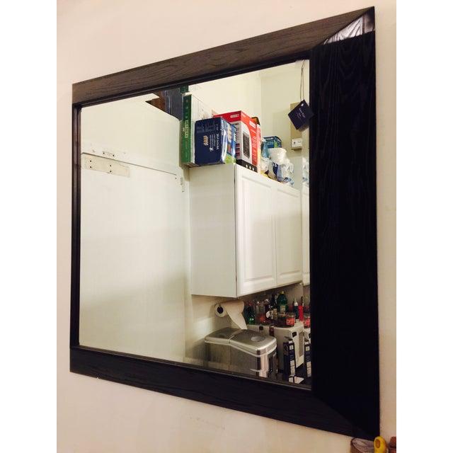 Modern Large Beveled Dark Wood Frame Mirror - Image 3 of 6