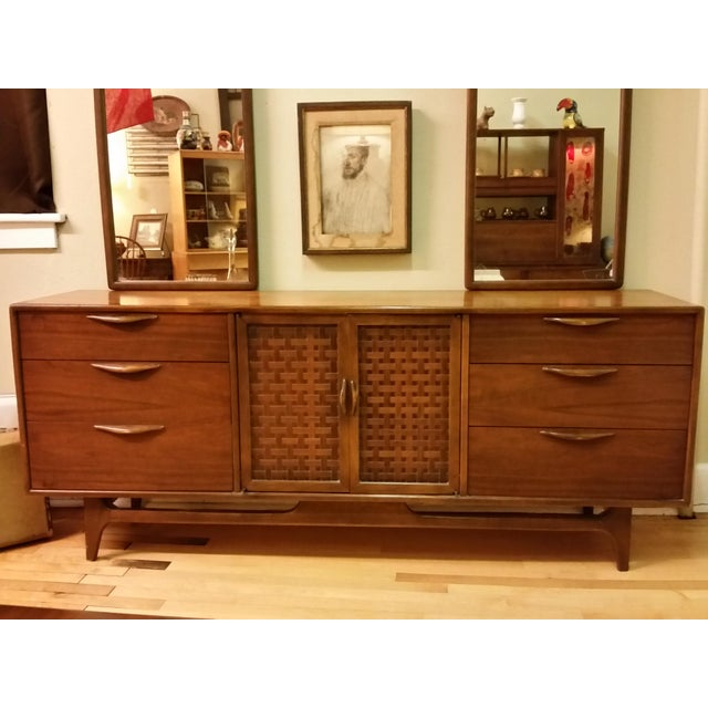 """Image of Warren Church for Lane """"Perception """" Dresser With Mirrors"""