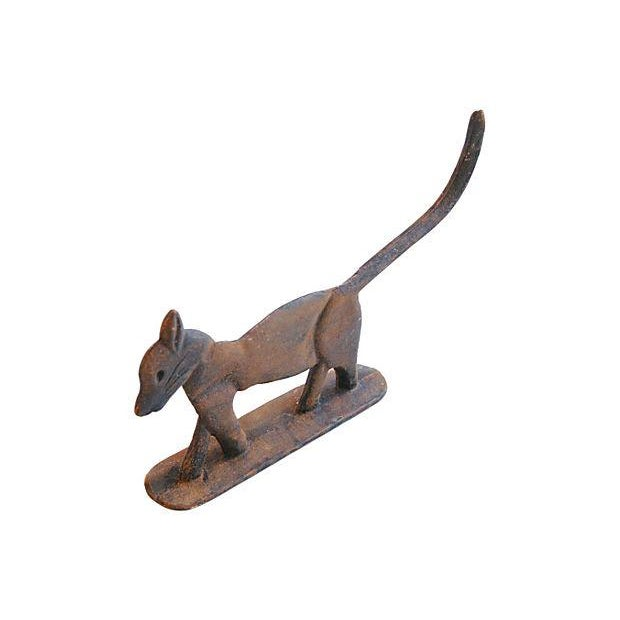 Vintage Cast Iron Cat Boot Scraper/Doorstop - Image 4 of 4