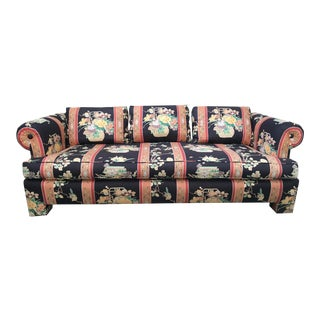 Henredon Asian Ming Chinoiserie Fabric Sofa