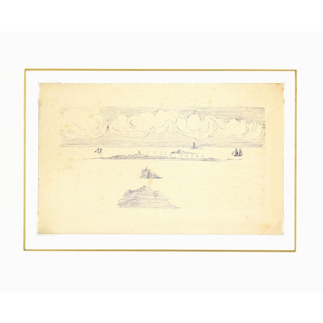 Vintage Ink Drawing - Bay Islands, C. 1910 - Image 3 of 3
