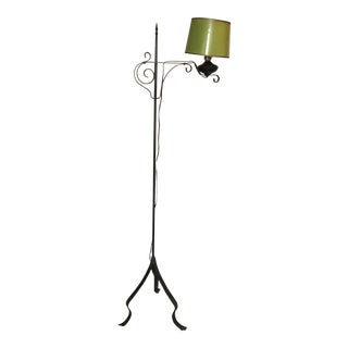 Antique Standing Floor Lamp Oil Conversion