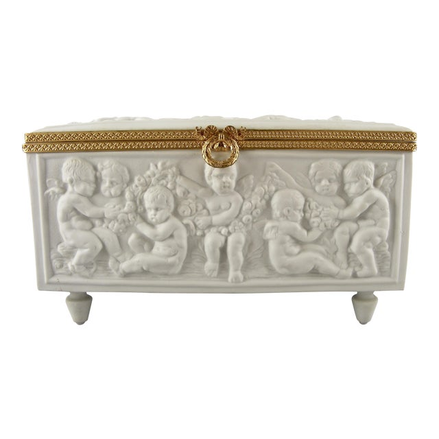 Image of Limoges France White Bisque Dresser Box
