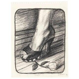 """Hugh Steers """"Studs"""" Graphite Drawing"""