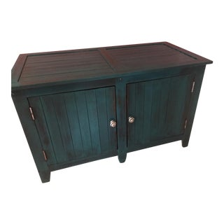Shabby Chic Style Turquoise Buffet