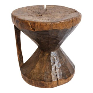 Gambia Wooden Carved Stool