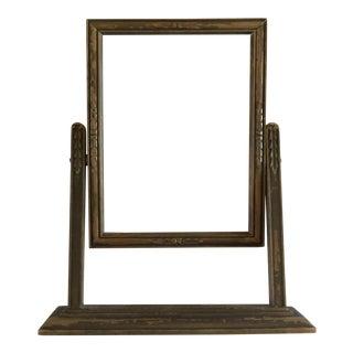 Vintage Carved Wooden Frame on Stand