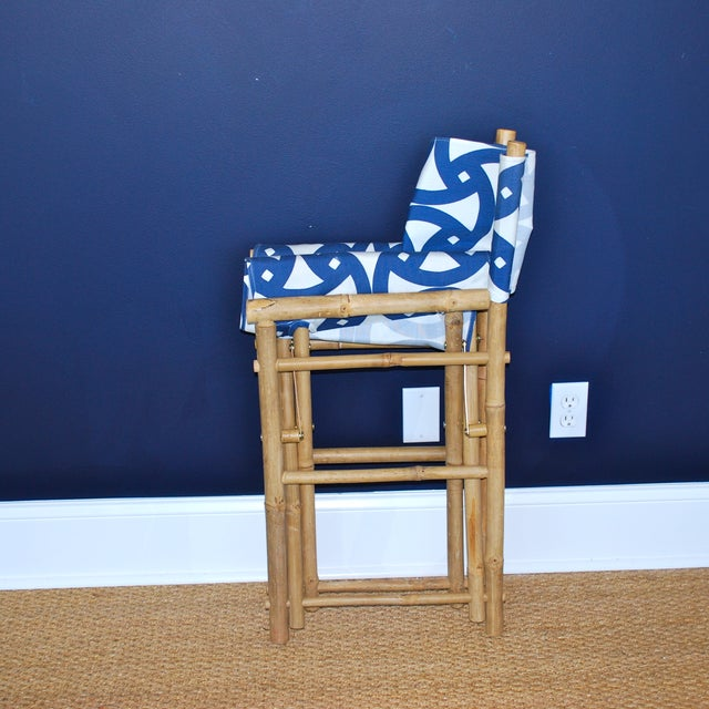Bamboo Director's Chairs - Set of 4 - Image 7 of 7