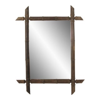 Black Forest Bamboo Style Mirror