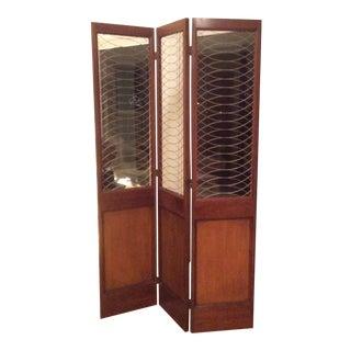 Barnard & Simonds Three-Panel Wooden Screen