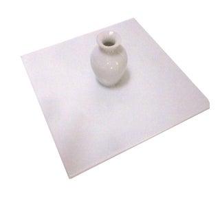 Sculptural Modernist White Porcelain Vase