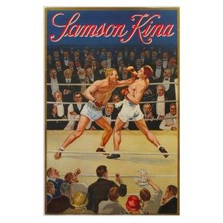 Vintage Belgian Boxing Poster, Samson Kina