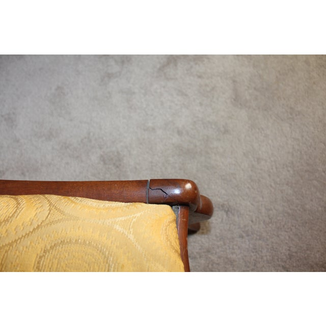 Image of Wood & Yellow Seat Louis XV Style Side Chair