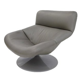 Artifort Modern Leather Swivel Lounge Chair