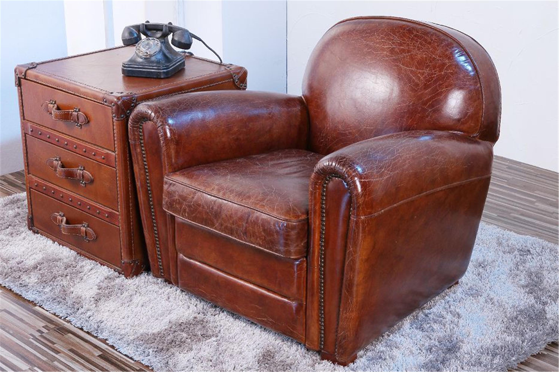 Elegant Pasargad Genuine Leather Paris Club Chair   Image 2 Of 5
