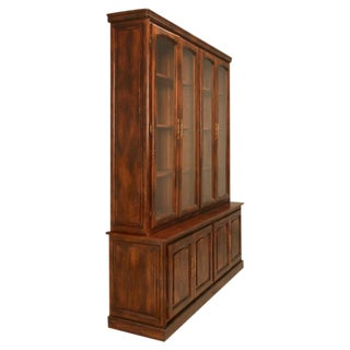 Classic Vintage French Walnut 4 over 4 Bibliotheque/Cabinet