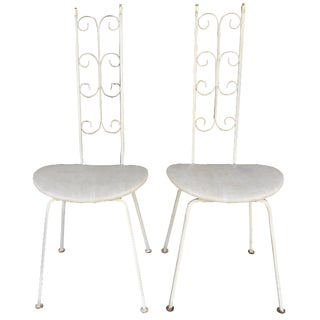 Salterini White Iron Chairs - A Pair