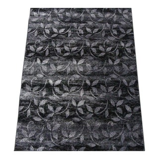Floral Pattern Contemporary Rug - 5′ × 8′